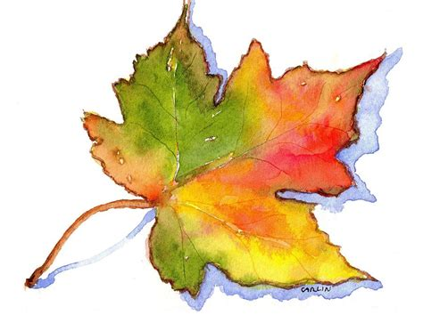 maple leaf turning painting by carlin blahnik
