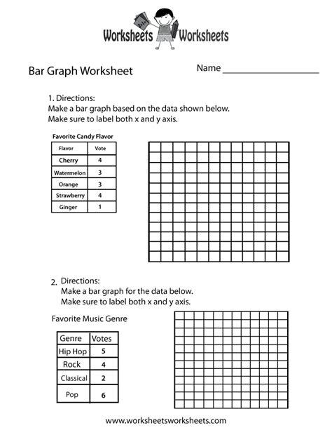 simple bar graph worksheet  printable educational