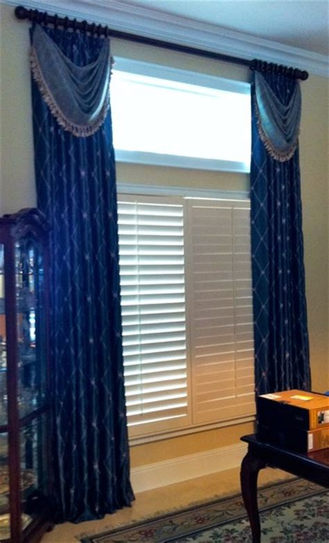 panels  bustle swags traditional window treatments