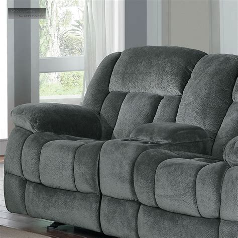 dual recliner loveseat with console new grey rocker glider recliner loveseat lazy sofa