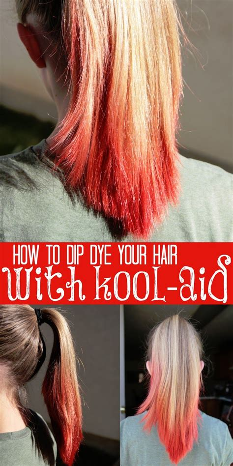How To Dip Dye Your Hair With Kool Aid Kool Aid And Dip Dyed