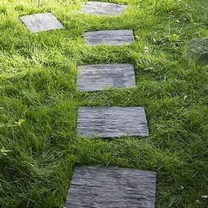Allée De Jardin Pas Cher : pas japonais pierre naturelle gris ardoise ardoise ~ Carolinahurricanesstore.com Idées de Décoration