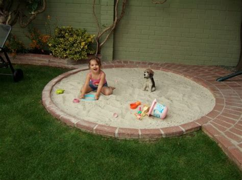 Backyard Sand by Great Idea To Build A Sand Box Into Patio Then When