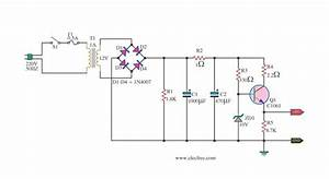 Dc Power Supply 9 Volt Using Tip31 Transistor  U2013 Circuit