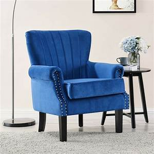 wing, back, armchair, occasional, accent, chair, studded, design, velvet, colours, tartan