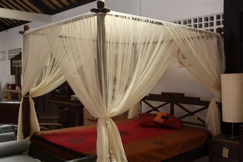lotus mahogany balinese canopy bed