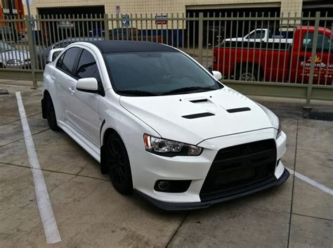 white mitsubishi lancer with black rims the official wicked white thread evoxforums com