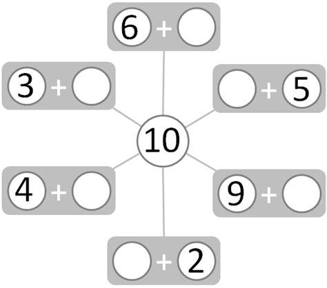 worksheet number bonds numbers to 10