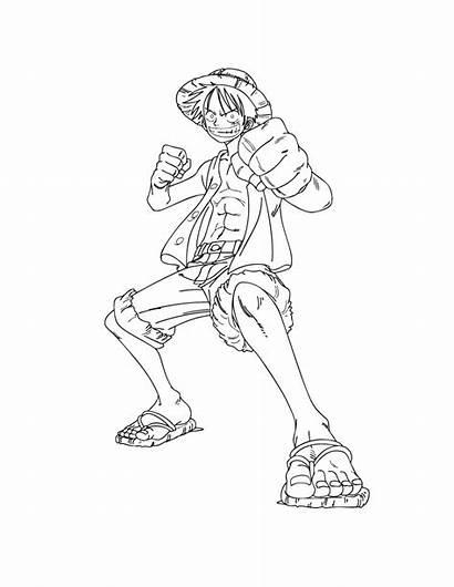 Coloriage Piece Position Manga Luffy Imprimer Dessin