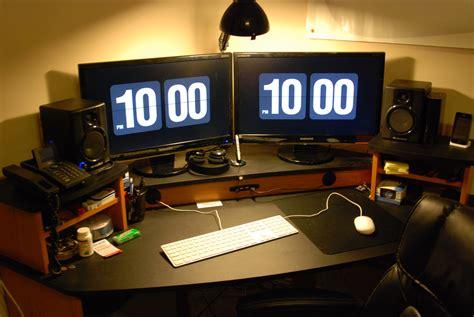 gaming computer desk for multiple monitors computer armoire dual monitor creativity yvotube com