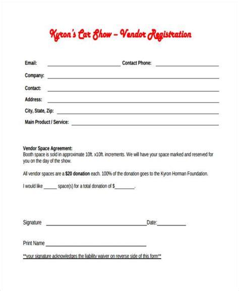 Sample Car Show Registration Forms