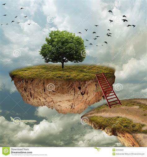 sky island stock illustration image  edge cloudy