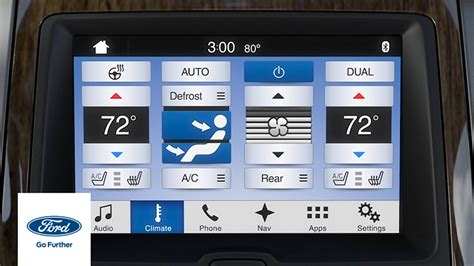 sync  climate comfort adjustments sync    ford