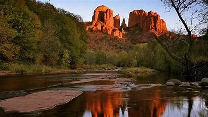 Sedona Arizona Rock Cathedral Creek Desktop Oak