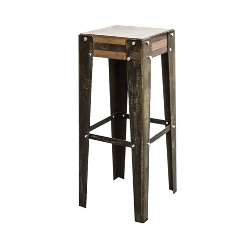 Tabouret De Bar Industriel Edmonton  Finition Rouille