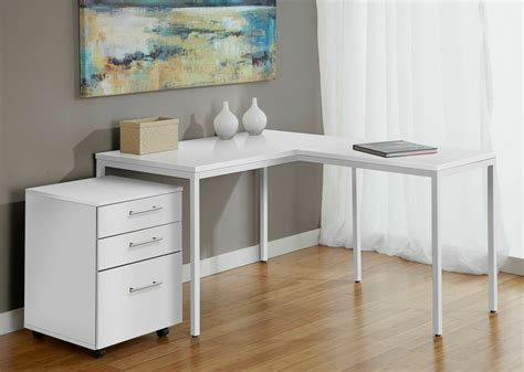 l shaped desk with filing cabinet modern white l shaped corner parson 39 s desk with mobile