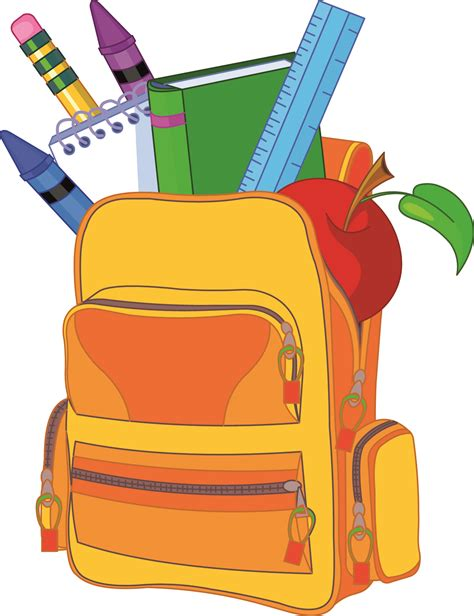 back to school clipart backpack homework clipart explore pictures