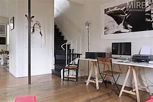 salon mires paris With meuble de cuisine industriel 16 poutres murs en pierre et meubles de campagne c0678