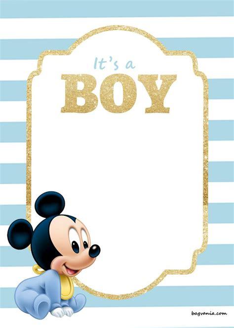 printable disney baby shower invitations mickey