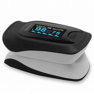 Measupro Ox200 Instant Read Finger Pulse Oximeter  Blood