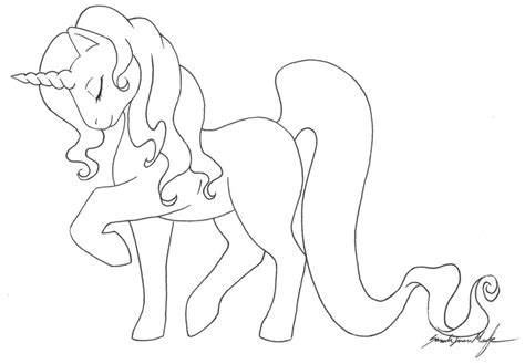 unicorn template mlp unicorn template by therainedrop on deviantart
