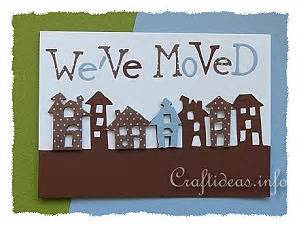 greeting card  craft weve moved card