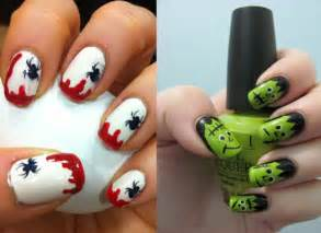Simple easy scary halloween nail art designs ideas pictures