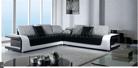 black and white sectional sofa b333 black white leather and fabric sectional sofa