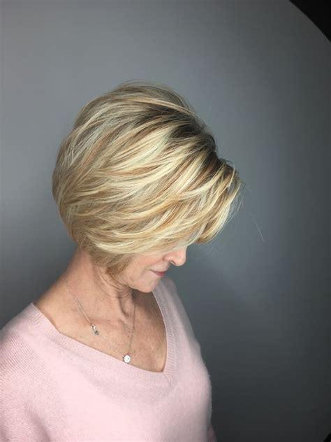 gold stylish wedge cut  women  short hairstyles