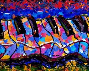 Abstract piano art painting keyboard painting music by ...
