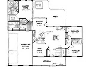 Spectacular Bedroom Bath House Plans by Ranch Style House Plans 2022 Square Foot Home 1 Story