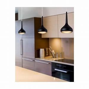 Suspension Pour Cuisine Moderne : suspension design noire led parfaite au dessus d 39 un bar ~ Teatrodelosmanantiales.com Idées de Décoration