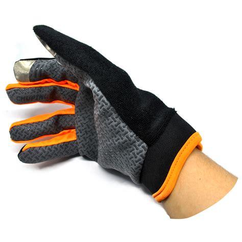 sonny sarung tangan sepeda anti slip sport gloves size l black orange jakartanotebook