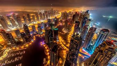 Night Buildings 5k Dubai Lights Wallpapers 4k