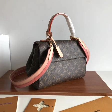 louis vuitton original monogram canvas cluny mono  pink