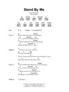 Stand Chords stand by me by oasis guitar chords lyrics guitar