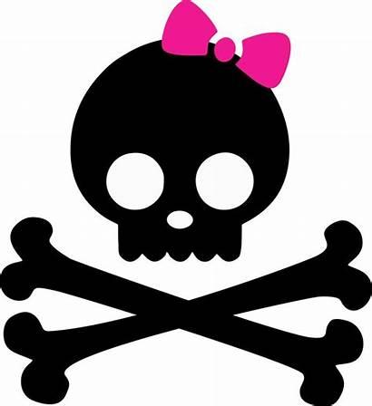 Clipart Skull Crossbones Bones Skulls Clip Pink