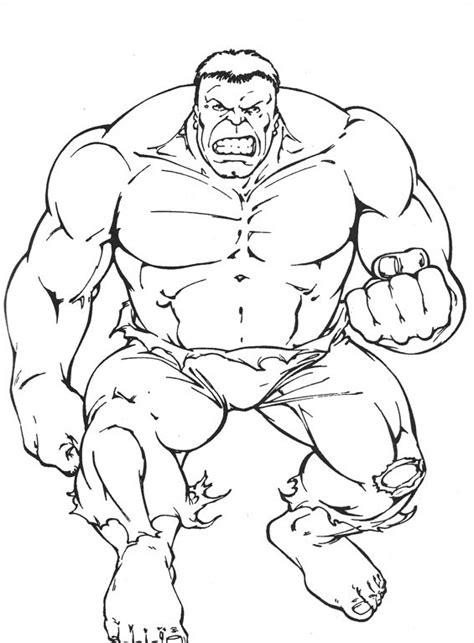 hulk 04 printable coloring pages
