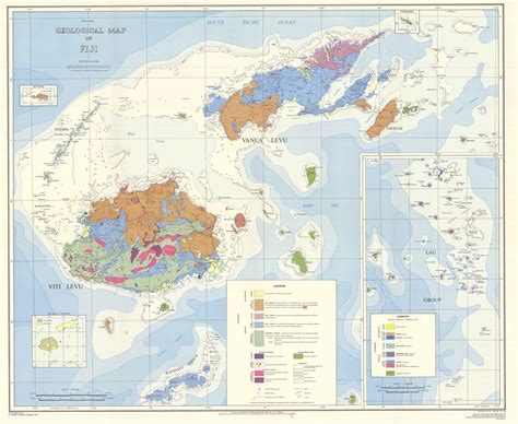 fiji geological map fiji mappery