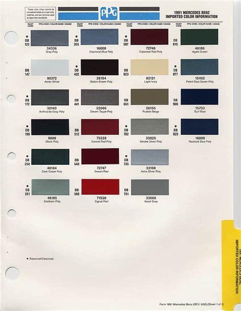 mercedes paint codes w126 color best site 1988