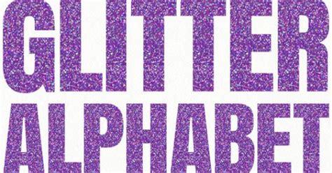 purple glitter letters sparkle numbers