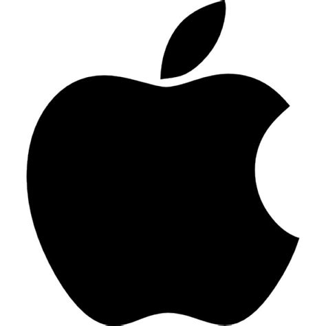 apple icon vector apple black shape logo with a bite icons free