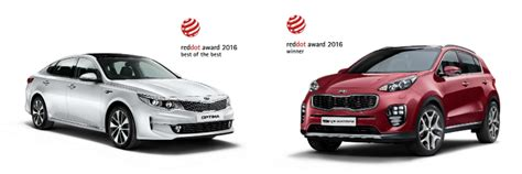 kia sportage  optima win red dot awards