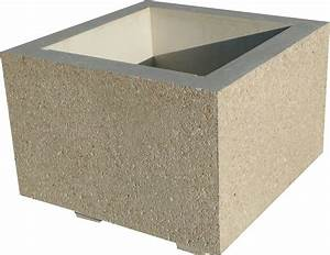 Bac A Fleur En Beton Rectangulaire : jardiniere en beton 70x70x45 ~ Edinachiropracticcenter.com Idées de Décoration