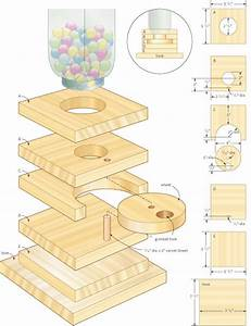 DIY How To Make A Wooden Gumball Machine Plans Free