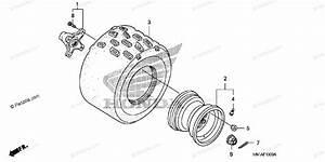 Honda Atv 2014 Oem Parts Diagram For Rear Wheel