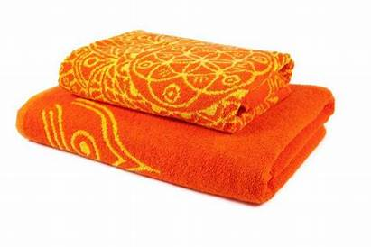 Towels Bath Yellow Orange Towel Bathroom