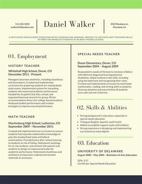 resume skill