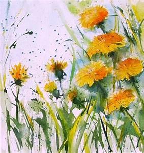 Aquarell Blumen Malen : aquarell auf leinwand anneliese dorn malerin ~ Frokenaadalensverden.com Haus und Dekorationen