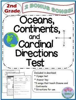 grade oceans continents  cardinal directions test
